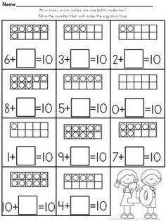 Addition and Subtraction - Modern Design Montessori Math, Preschool Math, Preschool Worksheets, Math Resources, Teaching Math, Math Activities, First Grade Math Worksheets, 1st Grade Math, Math Addition