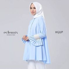 New Arrival 2018: . Monica tunic . Available at www.hijup.com or www.eclemix.com . Or reach our admin contact at:  line@ : @eclemix  WA : 081326004010 .  #eclemix #hijup #myhijup  #fashion #beauty #hijab #top #hijabfashion #2018 #bandung