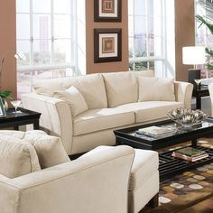 Coaster Company Park Place Contemporary Cream (Ivory) Sofa with Tapered Arms (Sofa) (Velvet)