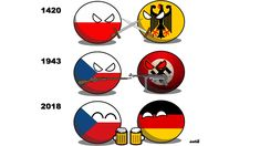 Countryballs Czech-German relations History Memes, World History, Snow Fun, Fun Comics, Czech Republic, Hetalia, Cringe, The Funny, Runes