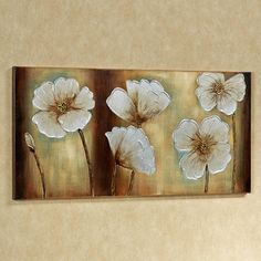 Dancing Floral Blooms Handpainted Canvas Art