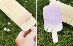 Adorable popsicle invitation for a summer-themed party!
