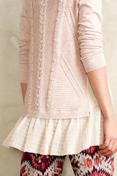 Ismare Cabled Cardi - anthropologie.com