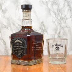 Personalised Jack Daniels Single Barrel Whisky Bottle