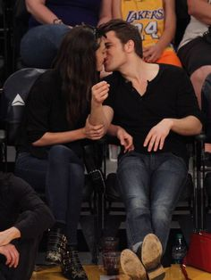 Paul and Phoebe At The Lakers Game (March 15, 2015)