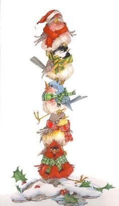 Résultat d'images pour christmas bird painting Christmas Bird, Christmas Clipart, Christmas Animals, Vintage Christmas Cards, A Christmas Story, Christmas Printables, Christmas Pictures, Winter Christmas, Christmas Crafts