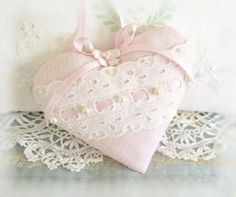 Valentines Day Heart Ornament 5 inch Home Decor by CharlotteStyle