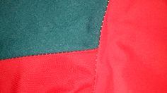 Right side of jacket-close up of seams