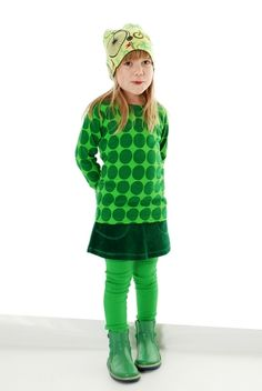 duns sweden green spotty top