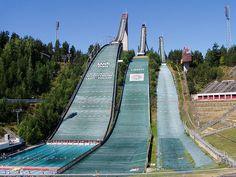 The ski jumps in Lahti, Finland
