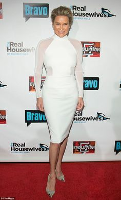 Health woes: Yolanda, seen at the RHOBH premiere in Hollywood last month, has been open about her struggle with Lyme Disease