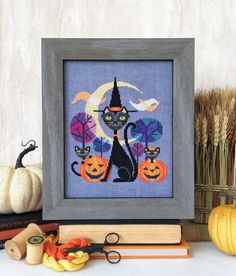 Halloween Cat - cross stitch pattern by Satsuma Street