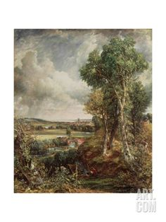 The Vale of Dedham, 1828 Giclee Print by John Constable at Art.com