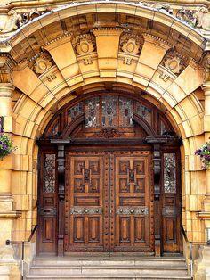 Salisbury Cathedral - Salisbury, Wiltshire, England by John Bushnell Cool Doors, The Doors, Windows And Doors, Grand Entrance, Entrance Doors, Doorway, Vintage Doors, Antique Doors, Portal