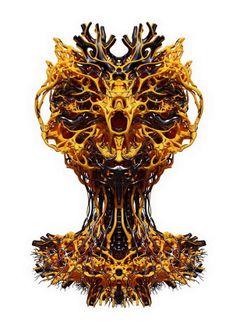 """Organic"" 3D printed sculptures by Nick Ervinck #3dPrinteresting #3dPrinting"
