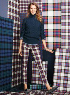 Lands' End Presents the Tartan Collection Fall 2014 XS sweater sz 2 pants 30 length