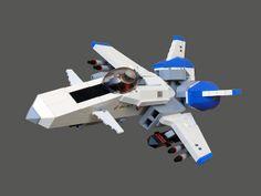 LEGO VTOL space plane by legodrome