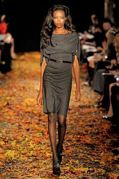 Douglas Hannant Fall 2012 Ready-to-Wear..in love with this grey dress. #fall #fashion