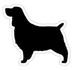 english springer spaniel silhouette waterproof die cut sticker