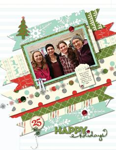 My Digital Studio (by Stampin' Up!) scrapbook page with Jingle & Joy ensemble; by Heather Westlake; http://www.stampinup.net/esuite/home/heathersfuninstamps/