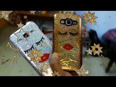 YouTube Diy glitter phone case. Using gift wrap..