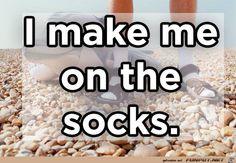 funpot: I make me on the socks.jpg von Torsten-ohne-H