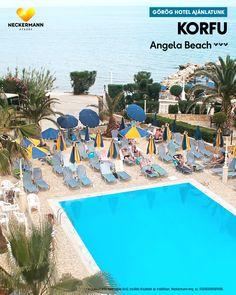 Angela Beach🧡🧡🧡  Szálloda a sziget zöld, északi részén. Ideális választás egy igazán pihentető nyaraláshoz.  www.neckermann.hu/szallas/angela-beach/54310?catalog=NAH Naha, Beach, Outdoor Decor, Corfu, The Beach, Beaches