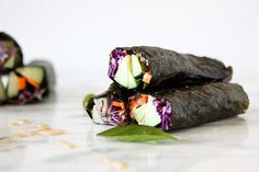 Nori Salad Wraps | http://thekitchenpaper.com/nori-salad-wraps/