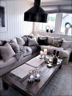 grey living room ideas pinterest how to decorate a small with fireplace 20 fantastic rooms the home i like that coffee apartment decor cozy