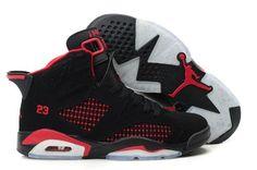 purchase cheap 8c00c a3597 Acheter élégantes nouvelles Nike Air Jordan 6 Pro Strong Chaussures Noir  Rouge Femme pour explorer le