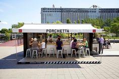 porchetta shipping container kiosk by noiseux + sasseville - Designboom - Weblog