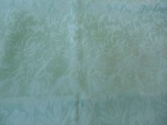 "Vintage Aqua Green Floral Tone-On-Tone  Silky Polyester Fabric  45"" W  x 3 Yards by Dockb30Crafts on Etsy"