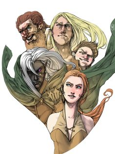 "Companions of the Hall by ~Gido on deviantART - I love R. A. Salvatore's ""Legend of Drizzt"" Novels."