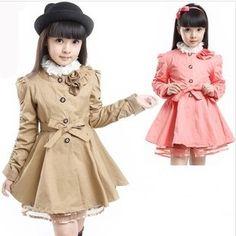 Розничная 1 шт. бесплатная доставка весной 2014 детей верхняя евро модной пальто для детей девочка джинсовую куртку CCC340