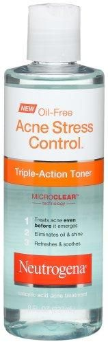 Neutrogena Oil Free Acne Stress Control Triple Action Toner, 8 Ounce***Size: Pack of 1.Salicylic Acid,MicroClear Technology,Treat acne even before it emerges,Eliminates oil and shine,Refreshes and soothes,.
