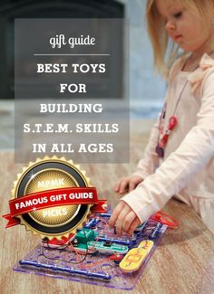 Best gifts for building S.T.E.M. (science, technology, engineering,, math) skills - such a great list!!! Bought from it last year and everything was a hit with my kids!