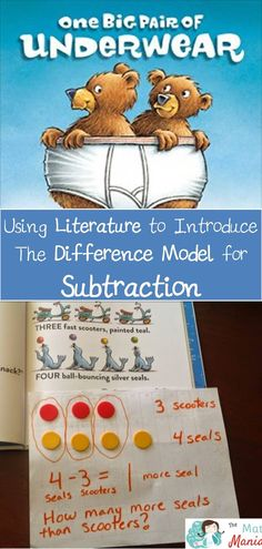 Check out this funny new book that will have your students laughing along as they learn a very important math concept! Great book for subtraction difference more than Subtraction Kindergarten, Math Literacy, Math Classroom, Fun Math, Teaching Math, In Kindergarten, Subtraction Games, Maths, Creative Teaching