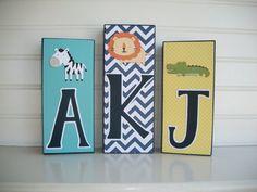 Name Block  Baby Name Blocks  Letters Monogram  by RessieLillian