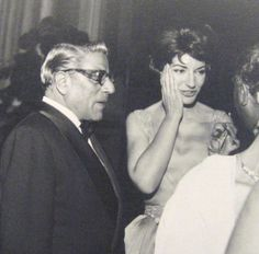 With Aristotle Onassis.