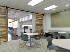 ERM's Lunchroom can convert to a Training Room as well with a moveable partition.