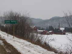 Coon Valley. WI., Lee farm and Upper Coon Valley Lutheran Church.