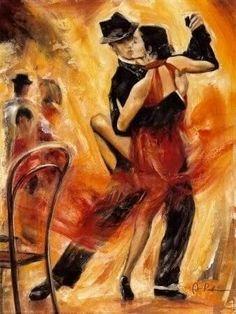 Satu Mare: Invata Bazele Bachata& Salsa Intr-o Zi! Tango Art, Tango Dance, Sun Painting, Painting People, Danse Salsa, Bachata Dance, Oil Painting Pictures, Dance Paintings, Flamenco Dancers