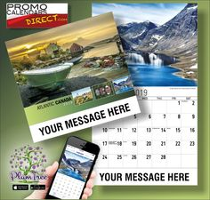 2021 Atlantic Canada Wall Calendars with your Business Name & Logo - low as Advertise in the homes and offices of people in your area all year! Wall Calendars, Atlantic Canada, Promotion, Hands, Messages, App, Marketing, Logo, Business