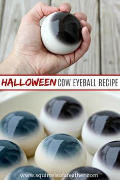 Giant edible cow eyeballs Best edible eyeball recipe ever! Hard to find vegan edible eyeball recipe; bonus that its gluten-free! Everyone loved this Halloween eyeball recipe! Five stars! The post Giant edible cow eyeballs appeared first on Halloween Food. Halloween Tags, Halloween Desserts, Halloween Eyeballs, Halloween Dinner, Halloween Goodies, Halloween Food For Party, Fall Halloween, Halloween Crafts, Halloween Costumes