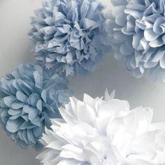 Cómo hacer pompones de papel de seda • Silk paper pompoms #DIY