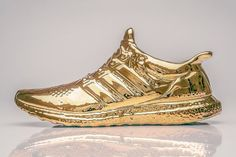 One of the best sneakers of the year is recreated with a series of hand-painted, gold-dipped sculptures.