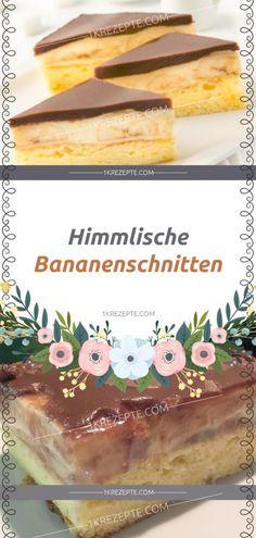 Himmlische Bananenschnitten - From Parts Unknown Donut Recipes, Easy Cake Recipes, Baking Recipes, Homemade Donuts, Homemade Cakes, Chocolate Cake Recipe Easy, Chocolate Recipes, Buttermilk Cake Recipe, Banana Slice