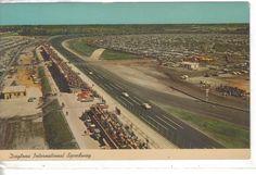 Old Florida, Vintage Florida, Daytona Beach Florida, Daytona International Speedway, Aerial View, Car Pictures, Vintage Postcards, Baseball Field, Nascar