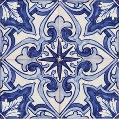 Portuguese Ceramic Tile | 2154 Portuguese hand painted fine ceramic tiles azulejos BLUE BAROQUE ...