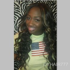 #ShareIG Great hair color inspiration of darkskinpoppn! She has highlighted the human hair weave. Hair info: 20'',22'', 24'',26'' Cambodian loose wave and closure http://www.dyhair777.com/Cambodian-Virgin-Hair.html